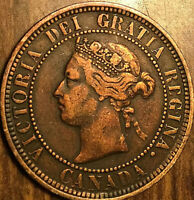 1886 CANADA LARGE CENT PENNY LARGE 1 CENT - Obverse 1 - Nicer example!