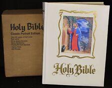 Regal King James Family Bible Classic Portrait Red Letter Mantel 3D Record 1975