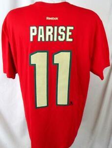 Minnesota Wild Men X-Large Screened Zach Parise #11 Jersey T-shirt AMWD 52