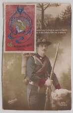 B0428: WW I France Arma de Genio Label on Postcard