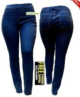 SEXY DIVA WOMENS PLUS SIZE Denim jeans Elastic Waist Pull On Stretch Push up-NEW