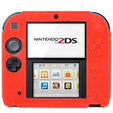 Nintendo 2 DS Housse étui silicone souple mat Housse De Protection Cover Couverture Anti-Chocs Rouge