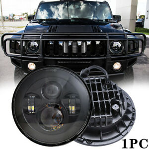 """DOT 7"""" Inch Round LED Headlight Hi/Lo Beam For Hummer H1 H2 AM General 1992-2001"""