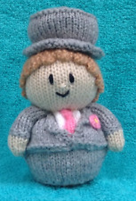 KNITTING PATTERN - Wedding Groom chocolate orange cover or 15 cms toy