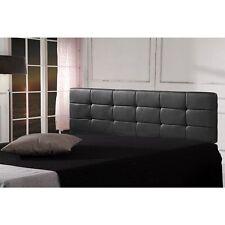 PU Leather King Bed Deluxe Headboard Bedhead - Black