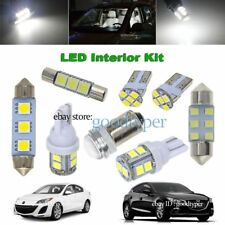 5x White LED lights interior package kit Map Dome Bulb fit 10-13 Mazda 3 mazda3