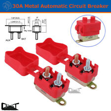 2 X 30A AMP 12V Metal Circuit Breaker Cover Fuse Auto Rest Dual Battery