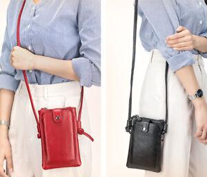 New Women's Real Leather Wallet Crossbody Phone Bag Ladies Mini Travel Purse