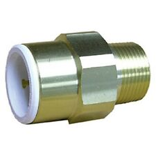2x John Guest JG Brass Push Fit Fitting 22mm X 3/4 in BSP Male DIY