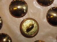Lot de 20 Boutons André dorés 15mm demi-bombé à queue NEUFS Armée Française WW2