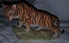 Bengal Tiger Porcelain Figurine by Andrea by Sadek #5934 in Excellent Condition