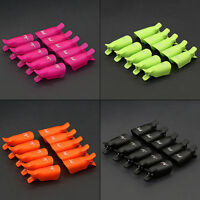 10pcs Plastic UV Gel Polish Remover Wrap Tool Stylish Nail Art Soak Off Clip Cap