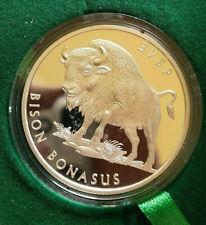 10 UAH ,UKRAINE COIN Bison bonasus ,PROOF,Ag 923,31,1 g,mintage -2000 szt,