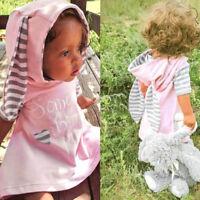 Toddler Newborn Girls Ears Cartoon Heart Print Letter Warm Dress Outfits Clothes