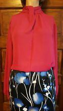 NWT Worthington Womens dress blouse Pink sz PXL long sleece button collar