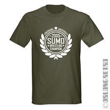 Irónico Sumo Lucha Camiseta-Gracioso Retro MMA Japón Japonés-Opciones De Color