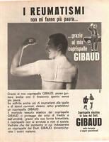 ADVERTISING PUBBLICITA' COPRISPALLE DR. GIBAUD - 1962
