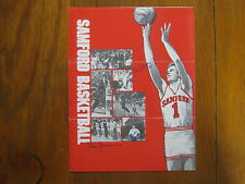 1982 SAMFORD/Tennessee State Basketball Program (3 Signed w/Coach  MIKE  HANKS)