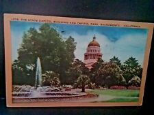 Postcard  State Capitol Building & Capitol Park in Sacramento, CA