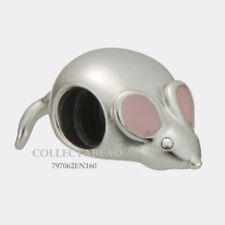 Authentic Pandora Silver Pink Enamel Cute Mouse Bead  797062EN160 *SPRING 2018