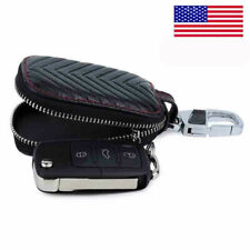 Leather Car Remote Key Fob Chain Zipper Wallet Holder Bags Case Cover USA