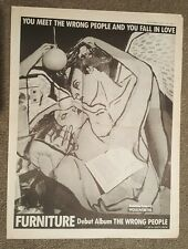 Furniture The wrong people 1986 Full page press advert  33 x 43 cm mini poster