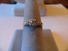 14k  gold Vintage ANTIQUE  ROUND  CUT .21ct  Diamond   ring