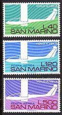 San Marino - 1974 50 years gliding / Aviation  - Mi. 1077-79 MNH