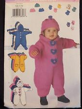 OOP BUTTERICK 5899 Infants Bunting Hat Mitts & Booties PATTERN L-XL/22-29 lbs UC