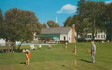 Manchester Vt ~ Woman Golfer on the Equinox House Putting Green ~ c1960