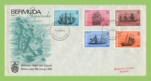 Bermuda 1986 5 Ships definitives on First Day Cover, Hamilton