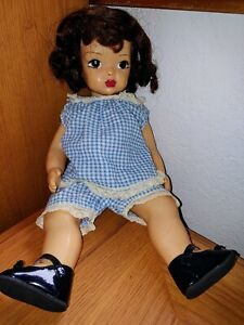 """Vintage 1950's 16"""" Terri Lee Doll in 2-Piece Play Clothes Outfit w/ Shoes"""