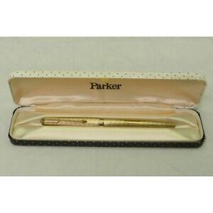 Parker 61 9ct gold fountain pen with original case