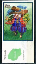 TANZANIA 1997 RUMPELSTILTSKIN SOUVENIR  SHEET FIRST DAY COVER