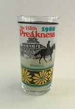 1988 Preakness Stakes 113th Pimlico Horse Race Souvenir Glass ~ Baltimore, MD