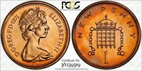1971-1P GREAT BRITAIN 1 NEW PENNY PCGS PR64RD TONED COIN IN HIGH GRADE