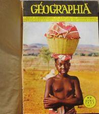 Album relié de Geographia de 6 numéros - 1954-1955 - Reliure  amateur  -vintage