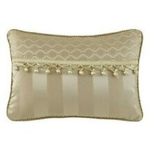 "Waterford Linens Decorative Pillow 12"" x 18"" Anya Pail Gold"