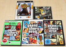 5 PC SPIELE SAMMLUNG - GTA GRAND THEFT 1 III 2 AUTO VICE CITY & SAN ANDREAS