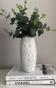 Rustic Aged Textured Stone Vase