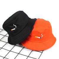 Bucket Hat Embroidery Cap Unisex Cotton Fishing Boonie Brim visor Sun Summer Cap