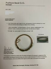 18k yellow gold bangle centering 4 curved Jade pieces