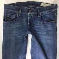Ladies Diesel Grupee Super Slim Skinny Low Rise Blue Jeans W27 L32 (760h)