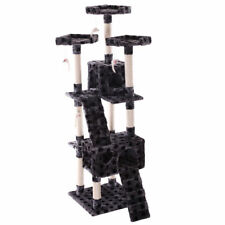"""New listing Gray 67"""" Pet Kitty Play House New Cat Tree Tower Condo Furniture Scratching Post"""