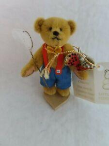 Garden Boy & Butterfly Little Gem Teddy Bear Mini Ltd Ed Figure Chu-Ming Wu  MIB