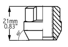 Wheel Lug Nut-Lock OE Acorn 9/16 COYOTE PREMIUM WHEEL ACCESSORIES 002714