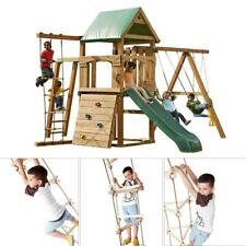 Climbing Rope Ladder Swing Wooden 5 Steps Garden Toy Outdoor For Children