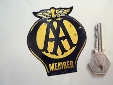 "AA MEMBER Worn & Distressed Style Car STICKER 3.5"" Classic Motoring Vintage Bike"