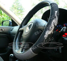 Nero Grigio Logo Drago Look Mesh in tessuto Volante Auto COVER