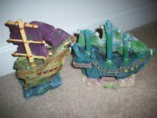 New listing Fish Tank Pirate Ship Decor Ghost Galleon Aquarium Underwater Landscaping 2p Lot